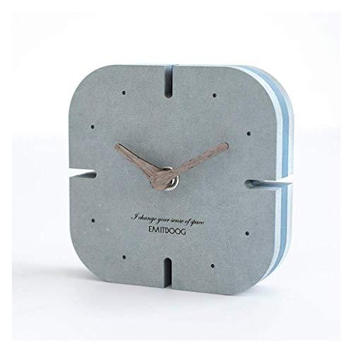 MUMUMI Reloj Despertador, Reloj New Home Desk Mesa Habitación Decoración Creativa Mesa Sala de Estar Decoración Nordic Mute Alarma Amarillo,C
