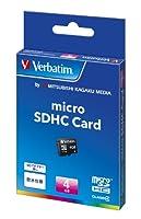 バーベイタム microSDHCカード 4GB Class4 IPX7防水 MHCN4GYVZ1