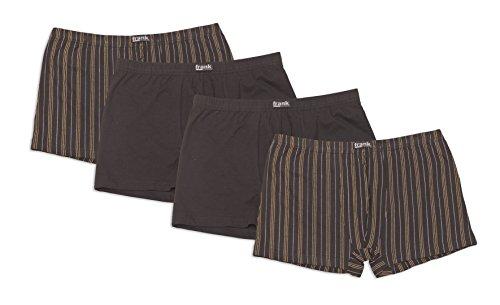 Frank Fields Herren Retro-Pants aus Baumwolljersey, Pants für Männer, Shorts Herren, 4er Pack von Größe 5/M bis14/6XL, Farbe:anthrazit, Größe:XL