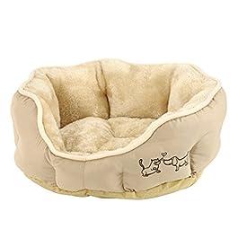 Dehner Hunde- und Katzenbett Sammy, oval, Polyester