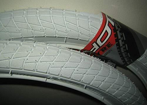 Coyote 20' x 1.95' DSI SRI-45 BMX Mountain Bike Cycle Ramp Freestyler Replacement Tyre White (Two Tyres)
