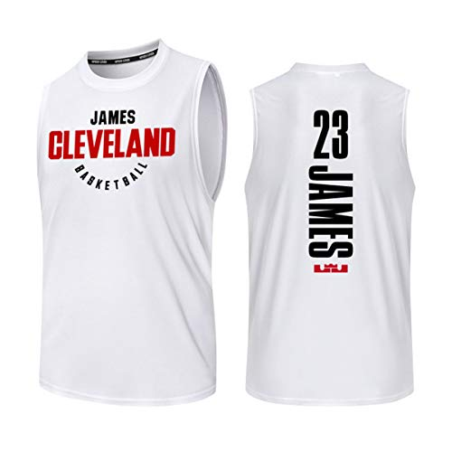 Mannen Lakers Jersey Fan shirt Vest zonder mouwen 23# James / 24# Kobe Summer Jerseys Basketbaltenue Sportswear Top,H,M