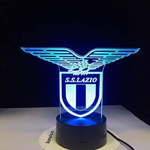 SS Lazio italienische Club 3D LED Nachtlicht Lampe Touch Sensor 7 Farbwechsel Büro Club Home Bar Zimmer dekorative Tisch Schreibtischlampe