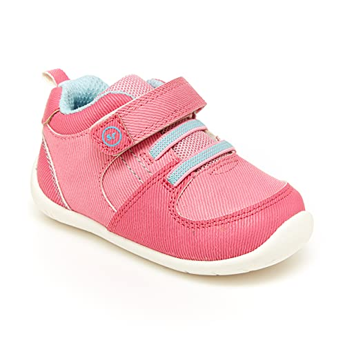 Stride Rite Baby Girls Theo First Walker Shoe, Pink, 3 Infant