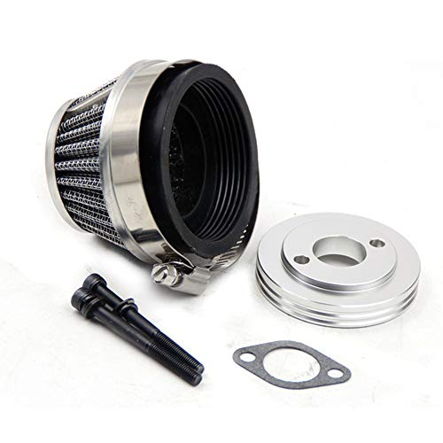FLMLF Air Filter Set for 1/5 RC Hpi Baja Rovan King Motor 5B 5T 5SC Losi 5ive T FG GoPed (Gray Metal)