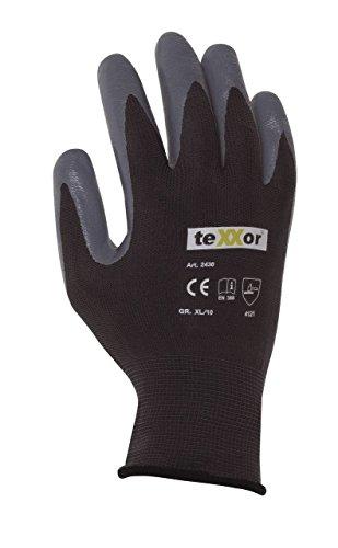 240 Paar - Polyester-Handschuhe Nitril beschichtet - teXXor® - 2430 - Größe 09