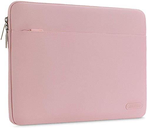 MOSISO Funda Protectora Compatible con 13-13,3 Pulgadas MacBook Air/MacBook Pro Retina/2019 2018 Surface Laptop 3/2/Surface Book 2, Bolsa de Poliéster Horizontal Resistente a Derrames, Rosa