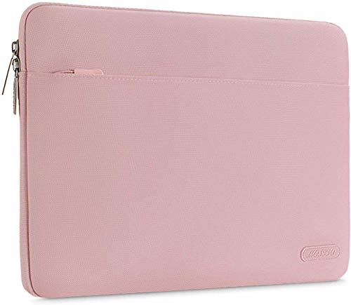 MOSISO Laptop Sleeve Bag Compatible with 13-13.3 Inch MacBook Air, MacBook Pro, Notebook Computer, Spill Resistant Polyester Horizontal Carrying Case Cover, Pink