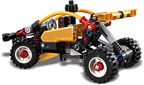 2 in 1 Design e costruzione di giocattoli da costruzione auto autoveicoli, nuovi kit modello fuoristrada si applicano a 7 anni,Yellow