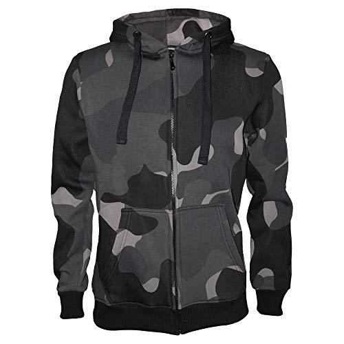 ROCK-IT Apparel® Herren Premium Kapuzenjacke Zipper Hoodie Kapuzen Sweater Jacke Workerhoodie Pullover Hoody Größen S-5XL Farbe Night Camouflage XL
