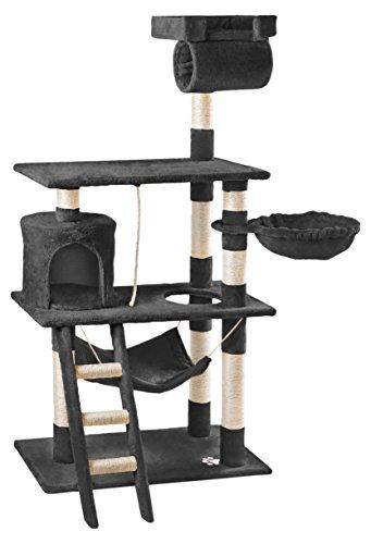 Mc Haus MAA1400N Árbol Rascador para Gatos con Nido Hamaca y Plataforma 140cm de Altura