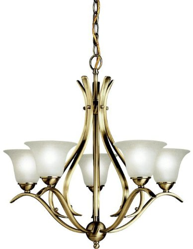 Kichler 2020AB Dover Chandelier 5-Light, Antique Brass