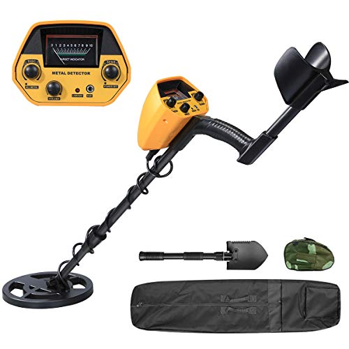 BestFire Metal Detector High Accuracy Waterproof Metal Detectors for Adults and Kids, DISC Mode & All Metal Mode, 7.9 Inch Search Coil, Carrying Bag, 2 Batteries and Shovel Detectors Metal