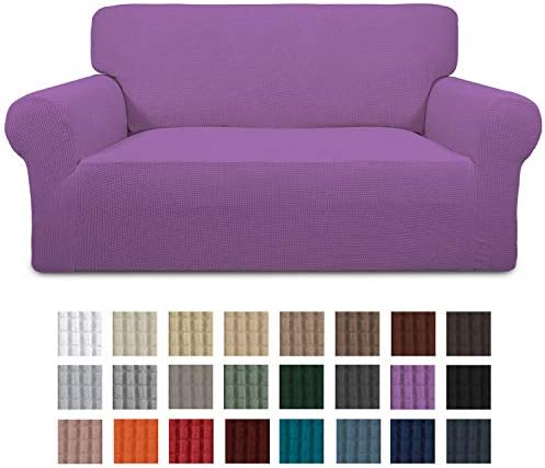 Best Easy-Going Stretch Loveseat Slipcover 1-Piece Sofa Cover Furniture Protector Couch Soft with Elastic