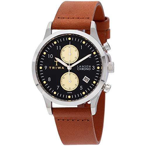 Triwa Unisex Erwachsene Chronograph Quarz Uhr mit Leder Armband LCST117-CL010212