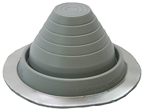 Round Base Pipe Flashing Master Flash #3 Dark Grey, Pipe Range 1/4' to 5' (6.4mm to 127mm)