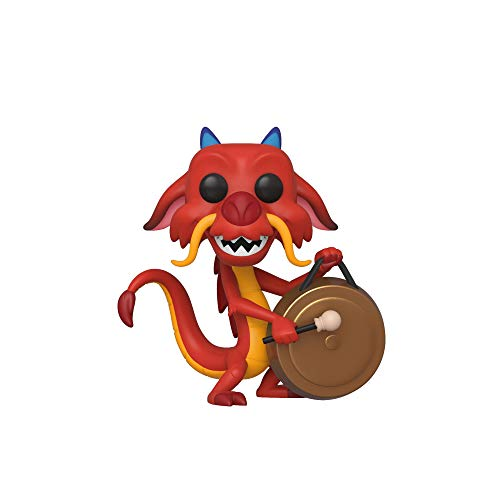 Funko- Pop Disney: Mulan-Mushu w/Gong Collectible Toy, Multicolor (45327)