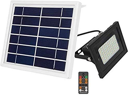 Proyector solar de control remoto 80LED Atenuación de dos colores Temporización inteligente Brillo ajustable Proyector de jardín superbrillante Impermeable Luz solar para césped al aire libre Iluminac