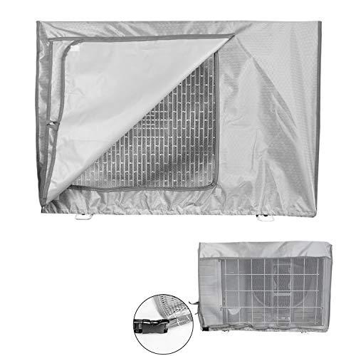 Mr.You Copertura Condizionatore Esterno,Coperchio del climatizzatore per Esterni Anti-Polvere Anti-Neve Impermeabile Protector Climatizzatore(90x40x70