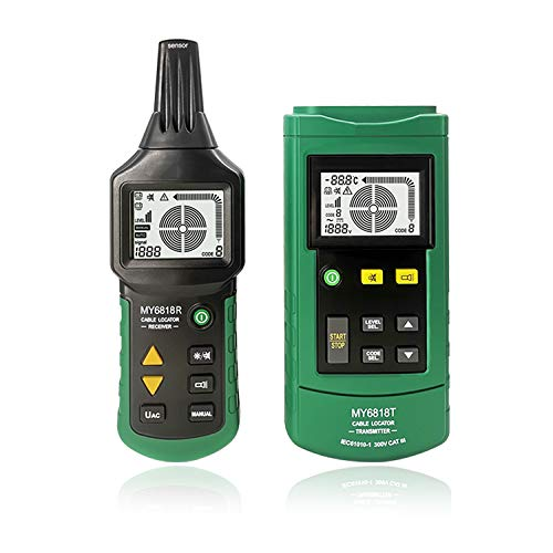 Locator Detector Tester,MY6818 12 to 400V AC/DC Wire Tracker Cable Finder Locator Metal Pipe Detector Tester Line Tracker