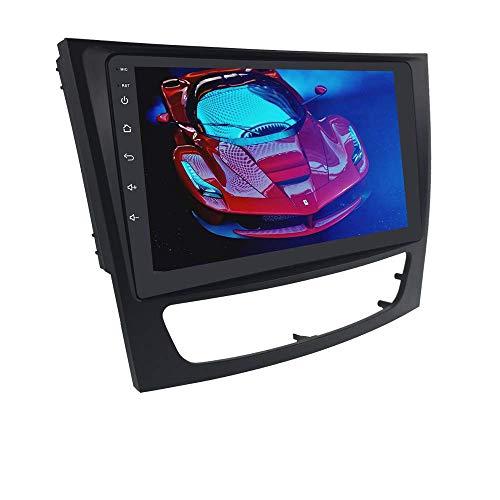Car Navigator Android 10 Navegación GPS para automóvil compatible con Mercedes Benz: E-W211 / G-W463 / CLK-W209 / CLS-W219, estéreo para automóvil con pantalla táctil de 9 pulgadas compatible con con