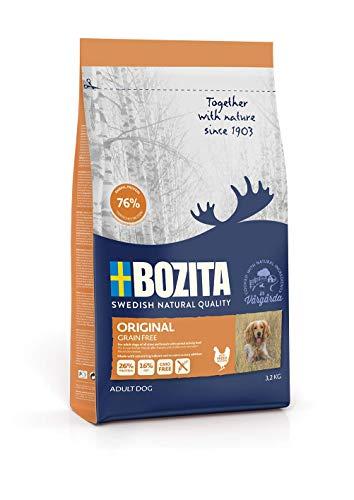 BOZITA Getreidefrei Hundefutter - 3.2 kg - nachhaltig produziertes Trockenfutter für erwachsene Hunde - Alleinfuttermittel