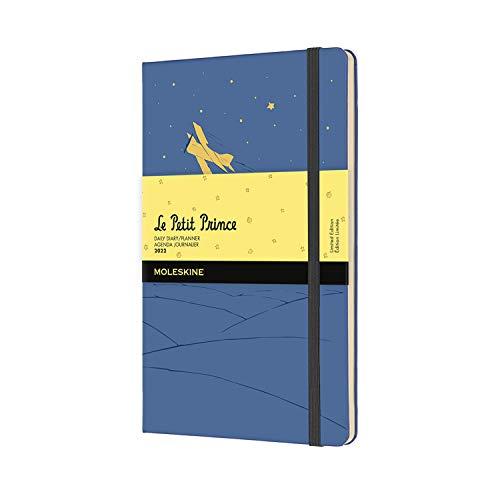 Moleskine 12 Monate Tageskalender 2022 Der kleine Prinz, Large/A5, 1 Tag = 1 Seite, Gebunden, Vergissmeinnicht Blau