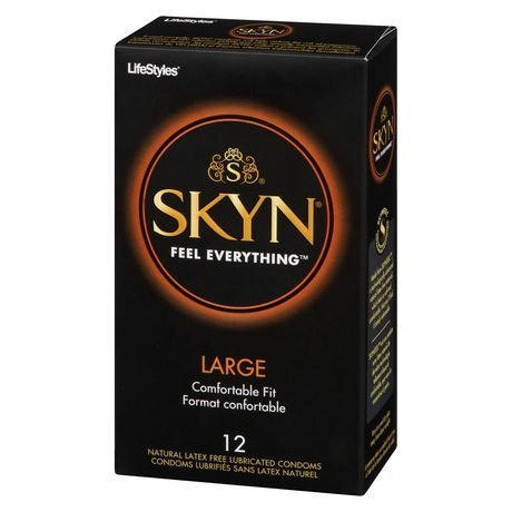 Lifestyles Skyn Large, Non-Latex Lubricated Condoms, 12 Count