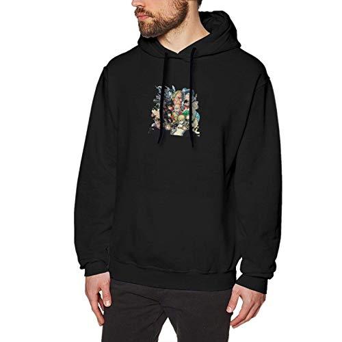 Hdadwy One Punch Man Black Hoodie Halloween Sweatshirt Mens Pullover Hooded