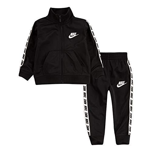 Nike Baby Jungen Trikotanzug Trainingsanzug 2-teiliges Outfit Set, schwarz, 24M