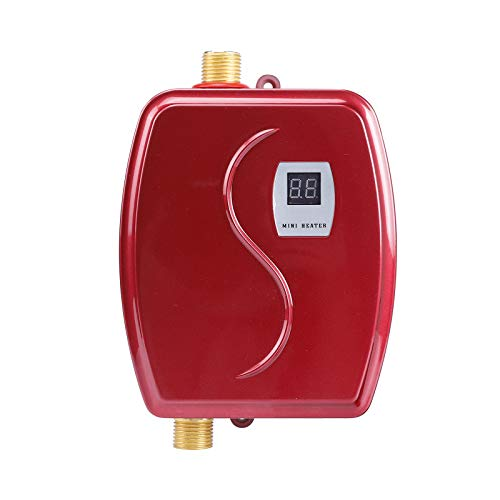 110V 3000W Mini Electric Tankless Instant Hot Water Heater Kitchen Washing US SU