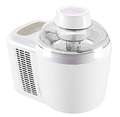 Trebs Eismaschine thermo-elektrisch, 700 ml in 45 Minuten, auch für tiefgekühlte Milchshakes und Joghurts, inkl. Messbecher, 2 Eiskellen und Eisschieber