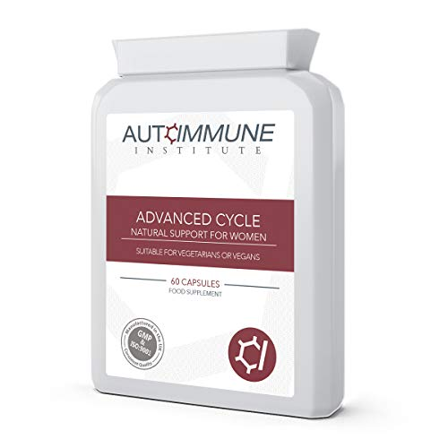 Monthly Cycle Support Supplement. 60 Capsules. Contains a Range of Natural Ingredients. Made in The UK. Advanced Cycle.