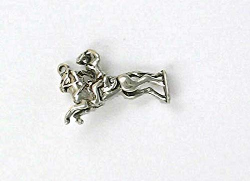 Sterling Silver 3-D Movable Bronco Rider Charm for Jewelry Making Bracelet Necklace DIY Crafts