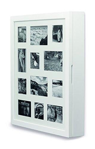 My Home Armadietto portagioie Bianco con Cornice Frontale per 12 Foto