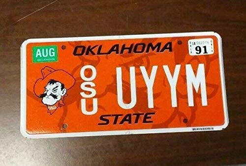 TammieLove Oklahoma Osu License Plate (Uyym) 6x12 inches License Plate Sign