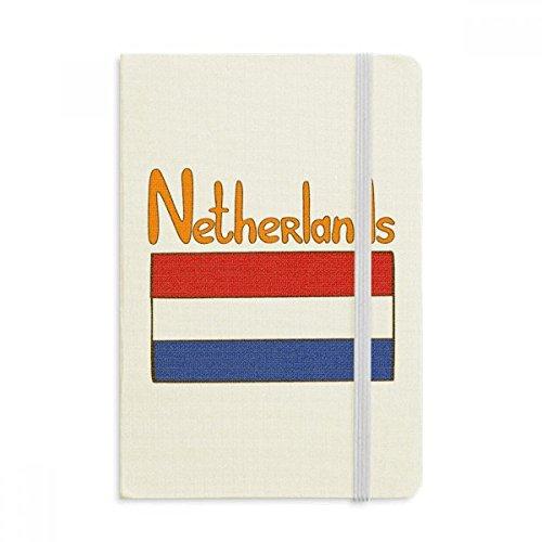 DIYthinker Nederland Nationale Vlag Patroon Notebook Stof Hard Cover Klassieke Dagboek A5 A5 (144 X 210mm) Multi kleuren