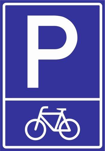 Kiwistar Parkplatzschild - PVC - Fahrrad (Piktogramm) - 30 x 21cm