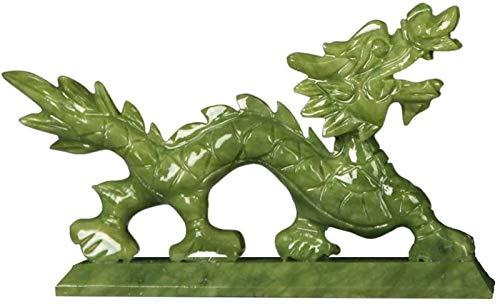 XYSQWZ Estatuas Y Figuras De DragóN Jade Natural, Adorno De Escultura De Feng Shui DecoracióN De Oficina En Casa DecoracióN De Mesa Buena Suerte Regalos