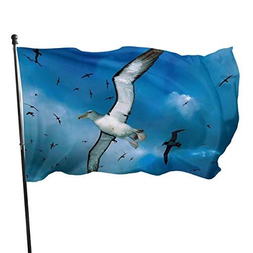 AOOEDM Bandera de jardín Gaviotas lindas Decoración de patio al aire libre Banderas del hogar Bandera de césped de pared Decoración de poliéster 3 'X 5'
