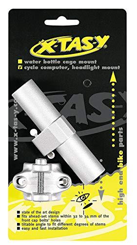 XtasY Unisex – Adulto copertura per ponticello computer e luce attacco adattatore argento
