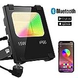 LED Strahler RGB Strahler 15W Fluter Außen Bluetooth APP-Steuerung 16