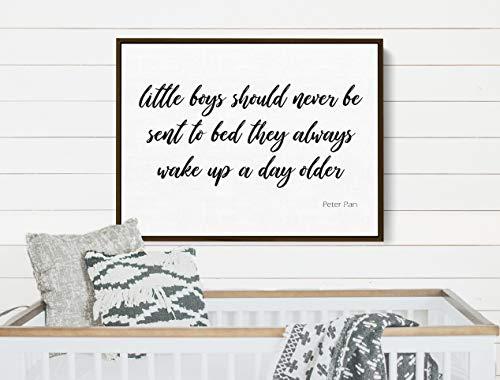 Ced454sy kleine jongens moeten nooit worden verzonden naar bed jongens kamer muurdecoratie kwekerij teken kinderen kamer Decor kinderen tekenen sprookje citaat
