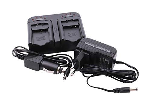 vhbw 220V Cargador Dual USB y Cable para baterías de cámaras Hitachi...