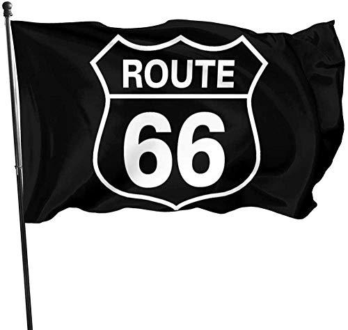 Just Life Bandiera da Giardino Targa per Esterni Festa per Interni Banner per Cortile Impermeabile Recinzione per Prato Divertimento e romanzo 5 * 3FT, Route 66 Bandiera per Interno/Esterno