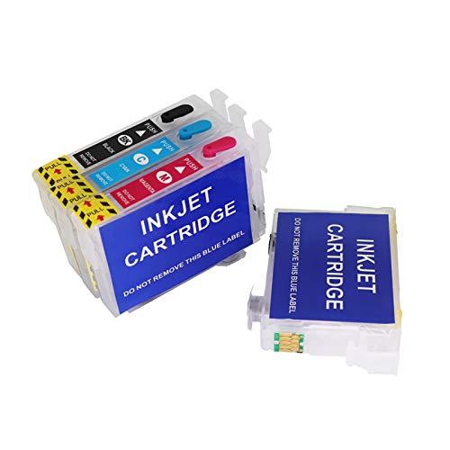 Caidi - Cartucho de tinta recargable vacío compatible con Epson 29 29XL para Epson XP-255 XP-257 XP-352 XP-355 XP-452 XP-455 XP-235 XP-245 XP-332 XP-335 XP-435 XP-455 XP-452