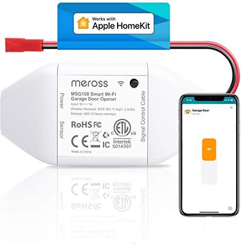 Meross Smart Garage Door Opener Remote Control Add-On to Existing Garage Opener Compatible with Apple HomeKit, Amazon Alexa, Google Assistant, SmartThings