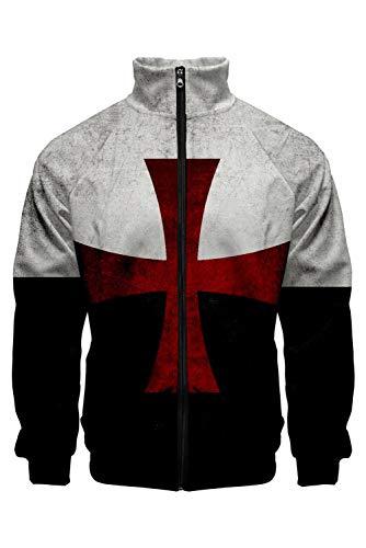 helymore Hombres Disfraz de Caballero Templario Sudadera con Capucha Cruzado Cruzar de...