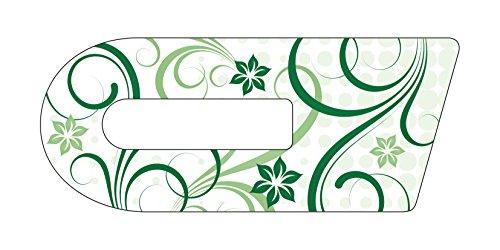 Aufkleber für Cook-Key® | Selbstklebender Sticker exakt passend für Thermomix TM5 Cook-Key | Motiv: Schnörkel