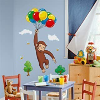 New Giant CURIOUS GEORGE WALL DECALS Kids Room Stickers Decorations Monkey Décor:New free shipping by WW shop